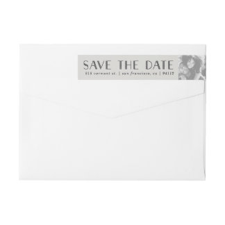 Art Deco | Custom Photo Save the Date Labels
