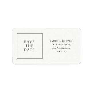 Art Deco | Custom Save the Date! Labels