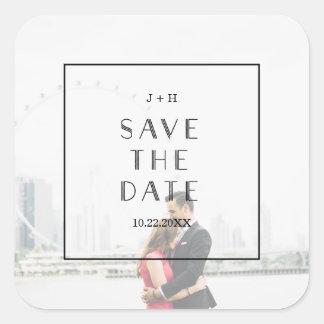 Art Deco | Custom Save the Date Wedding Sticker