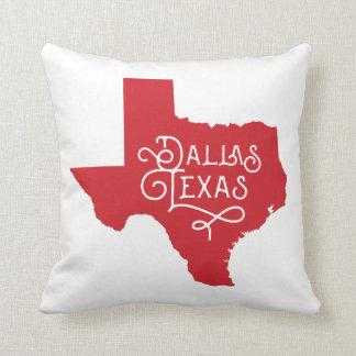 Art Deco Dallas Texas Accent Pillow - Red Cushions