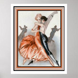 """Art Deco """"Dance Le Deux"""" 16 x 20 Poster"""