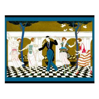 Art Deco Dance Postcard
