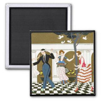 Art Deco Dance Square Magnet