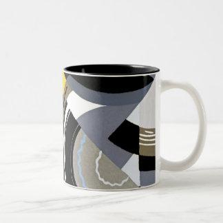Art Deco Design #2 at Emporio Moffa Two-Tone Mug
