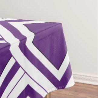 Art Deco Design Purple Tablecloth