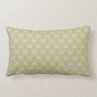 Art Deco Design - slate green, lumber pillow