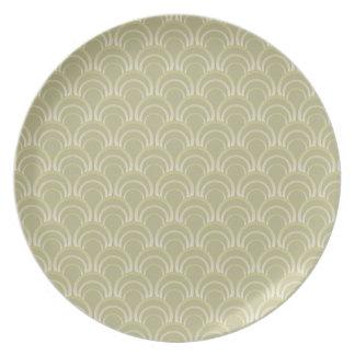 Art Deco Design - slate green, plate