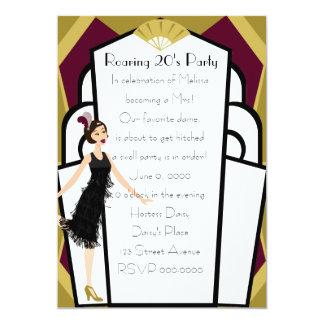 Art  Deco Doll Invitation