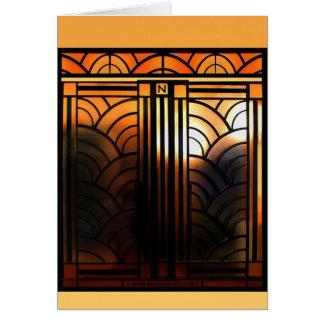 Art Deco Door Card