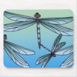 Art Deco Dragonfly Mouse Pad