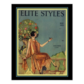 Art Deco Elite Styles Cover 16 x 20 Poster
