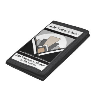 Art Deco Expression Trifold Wallets