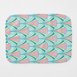 Art Deco Fan Miami Repeat Pattern Burp Cloth