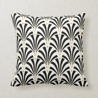 Art Deco Fans Pattern Cushion