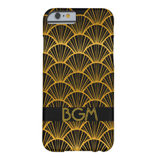 Art Deco Fans with Monogram Barely There iPhone 6 Case