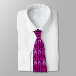 Art Deco Feather Pattern, Amethyst Purple Tie