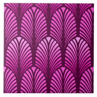 Art Deco Feather Pattern, Amethyst Purple Tile