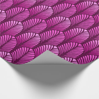 Art Deco Feather Pattern, Amethyst Purple Wrapping Paper