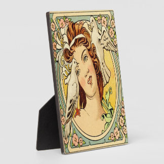 Art Deco Female Plaque with Easel 1