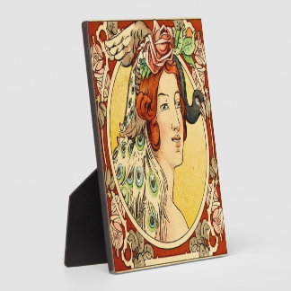 Art Deco Female Plaque With Easel 2