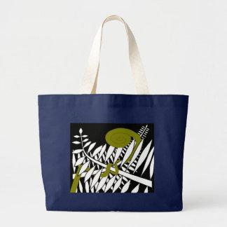 Art Deco Fern Large Tote Bag