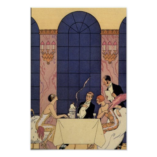 Art Deco Fine Dining Poster