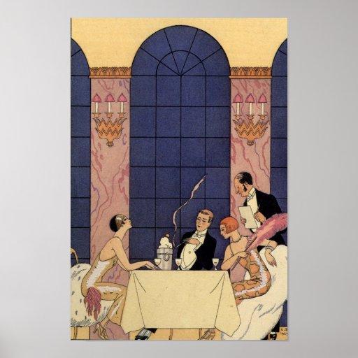 Art Deco Fine Dining Poster