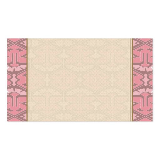 Art Deco Flair - All in Pink Business Card Templates