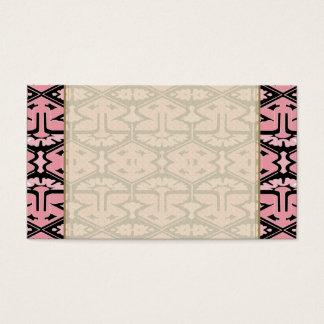 Art Deco Flair - Pink on Black