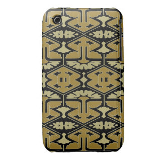 Art Deco Flair - Variation on Black iPhone 3 Case-Mate Case