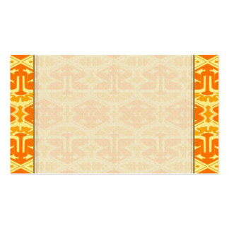 Art Deco Flair - Yellow and Orange Double-Sided Standard Business Cards (Pack Of 100)