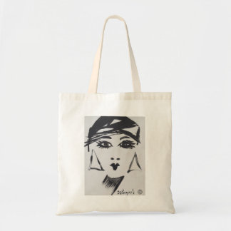 Art Deco Flapper Girl Tote Bag