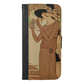 Art Deco Flapper iPhone 6s/6plus wallet