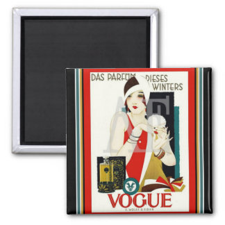 "Art Deco ""Flapper"" Refrigerator Magnet"