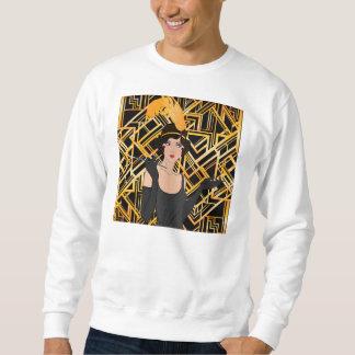 art deco, flipper girl, vintage,great Gatsby,chic, Sweatshirt