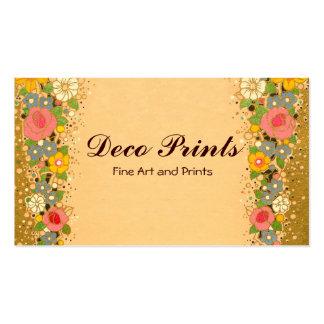 Art Deco Floral Flowers Business Cards