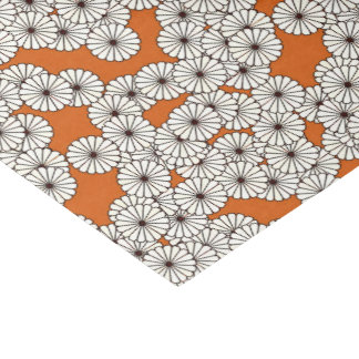 Art Deco flower pattern - cream on rust Tissue Paper
