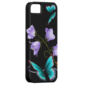 Art Deco Flowers and Butterfly Barely There iPhone 5 Case