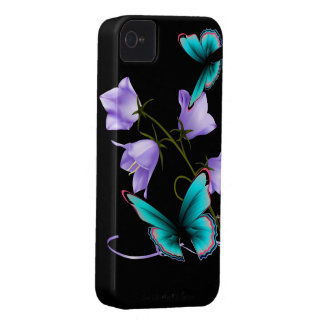 Art Deco Flowers and Butterfly iPhone 4 Covers