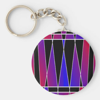 Art Deco 'Fractured' by Kenneth Yoncich Basic Round Button Key Ring
