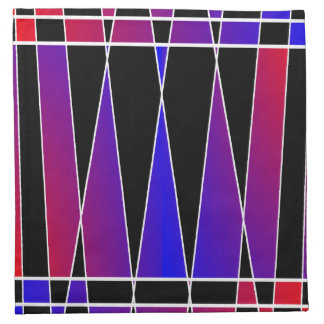Art Deco 'Fractured' by Kenneth Yoncich Printed Napkins