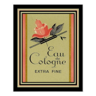 Art Deco French Cologne Ad 16 x 20 Poster