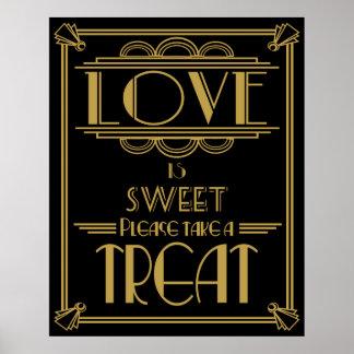 Art Deco Gatsby style Sweet table print