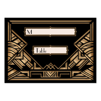 Art Deco Gatsby Style Wedding Escort Place Cards Pack Of Chubby Business Cards