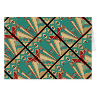 Art Deco Geometric Design Card