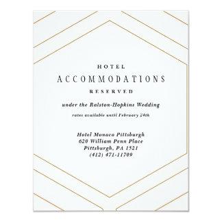 Art Deco Geometric Diamond Wedding Hotel Card
