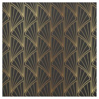 Art Deco Geometric Gold Foil ID492 Fabric