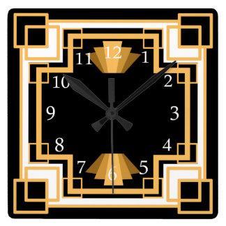 Art Deco Geometric Pattern Custom Wallclock