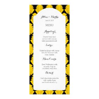 Art Deco Geometric Style 20's Menu Card List Personalised Rack Card