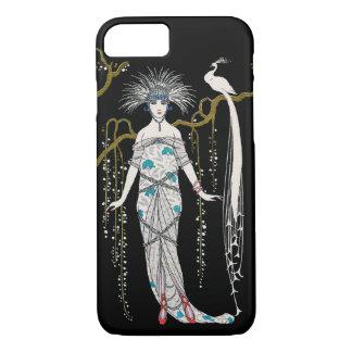 Art Deco George Barbier Fashion Plate Peacock iPhone 8/7 Case